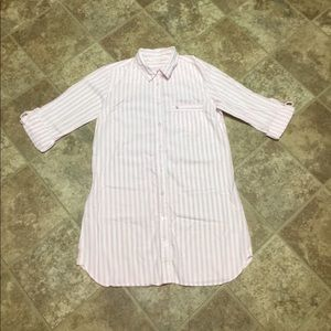 Victoria's Secret Buttoned Cotton NightShirt Small